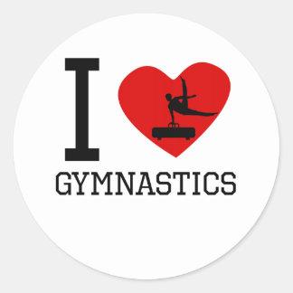 I gimnasia del corazón pegatinas redondas