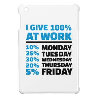 I give 100% at work case for the iPad mini