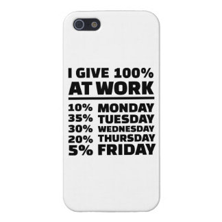 I give 100% at work iPhone SE/5/5s case