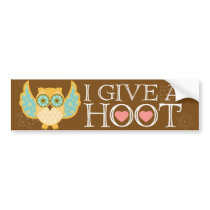 I GIVE A HOOT Bumper Sticker