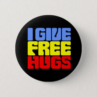 I Give Free Hugs Button