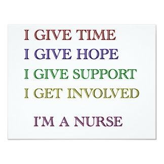 I GIVE, I'M A NURSE 4.25X5.5 PAPER INVITATION CARD