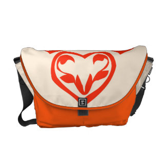 I give my heart to you abstract art deco laptop messenger bag
