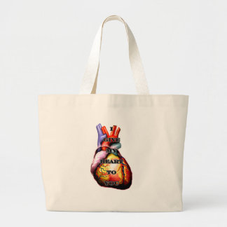 I Give My Heart To You Black Black The MUSEUM Zazz Jumbo Tote Bag