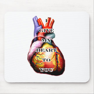 I Give My Heart To You Black White The MUSEUM Zazz Mouse Pad
