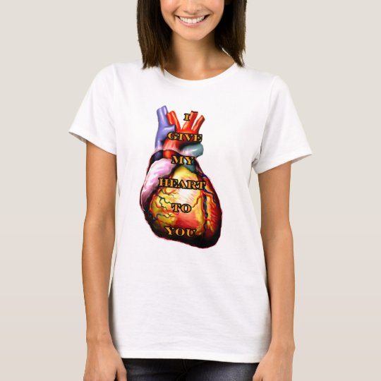 I Give My Heart To You Orange The MUSEUM Zazzle Gi T-Shirt
