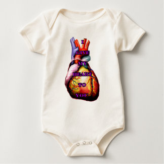 I Give My Heart To You Purple The MUSEUM Zazzle Gi Baby Bodysuit