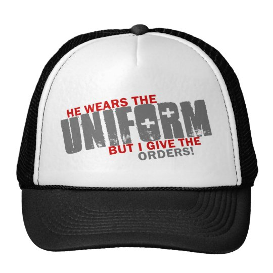 I give the orders trucker hat
