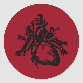 I GIve You My Heart Classic Round Sticker