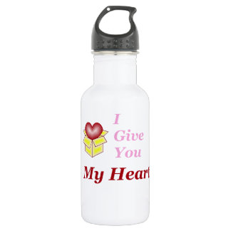 I Give You My Heart - Pink Stainless Steel Water Bottle