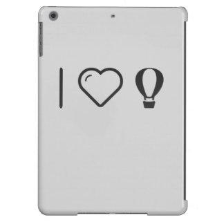 I globos del aire caliente del corazón funda para iPad air