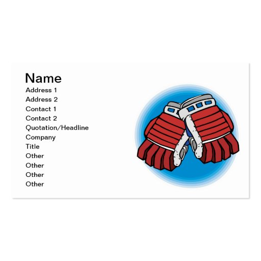 I Glove This Game Business Card Template
