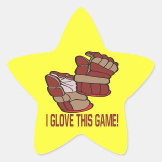 I Glove This Game Star Sticker