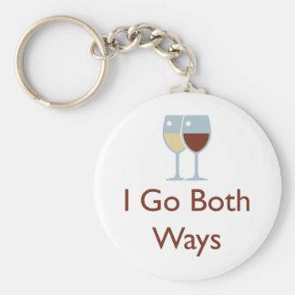 I go both ways keychain