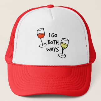 I Go Both Ways Wine Glasses Trucker Hat