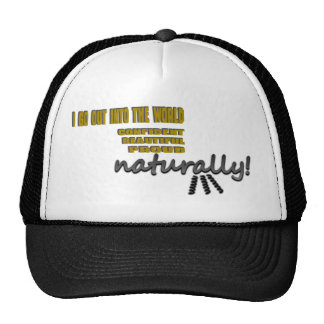 I Go Out Into The World Naturally With Curls Trucker Hats