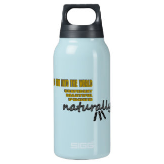 I Go Out Into The World Naturally With Curls Insulated Water Bottle