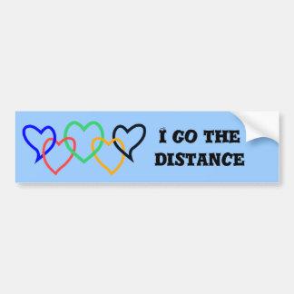 I go the distance - blue bumper sticker