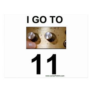 I go to 11 postcard