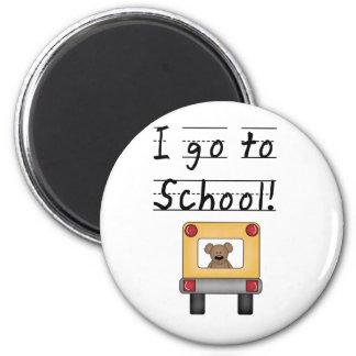 I Go To School 2 Inch Round Magnet