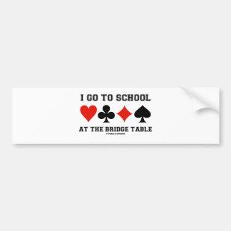 I Go To School At The Bridge Table (Bridge Humor) Bumper Sticker