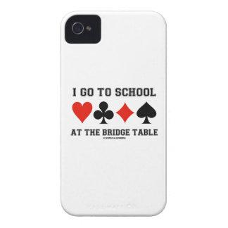 I Go To School At The Bridge Table (Bridge Humor) iPhone 4 Case