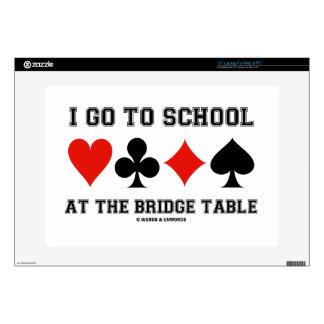 I Go To School At The Bridge Table (Bridge Humor) Skin For Laptop