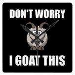 I Goat This Square Wallclock