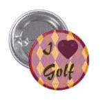 I golf Argyle tropical del corazón Pins