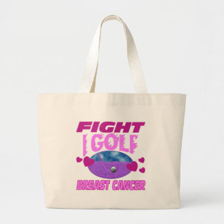 I Golf > Fight Breast Cancer Large Tote Bag