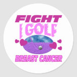 I Golf > Fight Breast Cancer Stickers