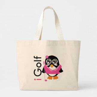 i Golf Penguin Tote Bag