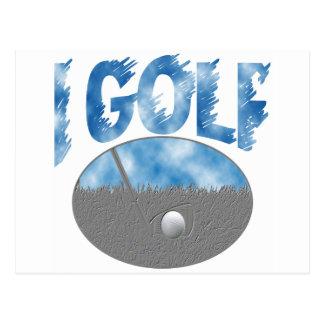I Golf Postcard