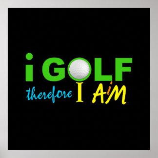 I GOLF poster - customize!