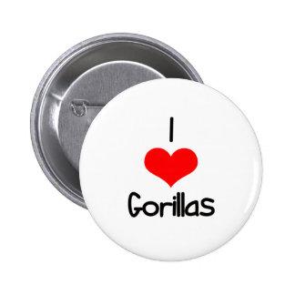 I gorilas del corazón (amor) pin redondo de 2 pulgadas