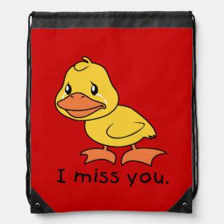 I gorra de la taza del pato de Srta. You Crying Mochila