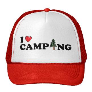 I gorra del pino del corazón que acampa