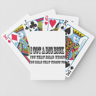 I got a dig bick bicycle playing cards