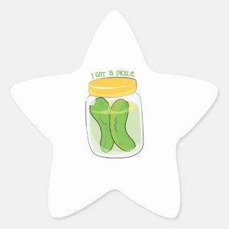 I Got A Pickle Star Sticker
