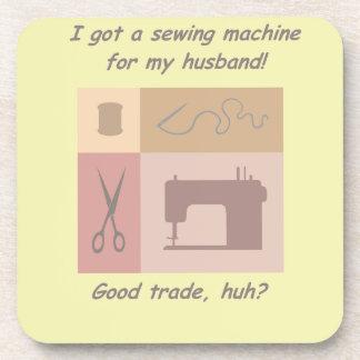 I got a sewing machine coasters