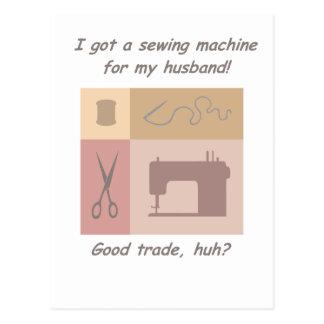 I got a sewing machine postcard