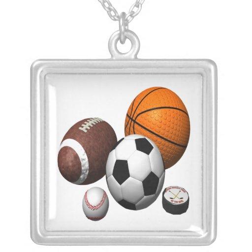 I Got Balls Square Pendant Necklace