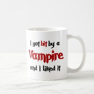 I got bit by a Vampire Classic White Coffee Mug