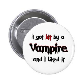 I got bit by a Vampire Pinback Button