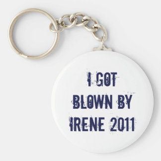 I got blown by Irene Keychain
