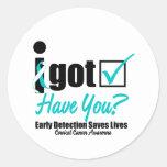 I Got Checked HaveYou-Cervical Cancer Awareness Classic Round Sticker