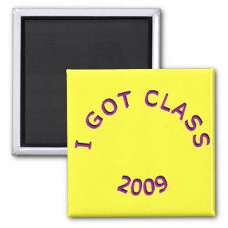 I Got Class 2009 Purple Square Magnet