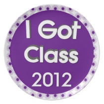 I Got Class 2012 Purple Spores Dinner Plate