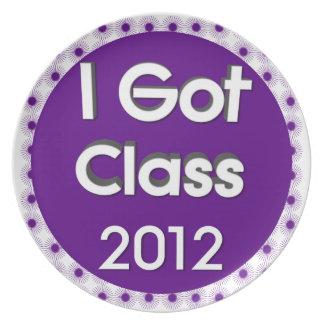 I Got Class 2012 Purple Spores Dinner Plate