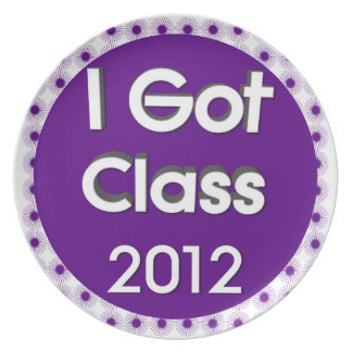 I Got Class 2012 Purple Spores Dinner Plates